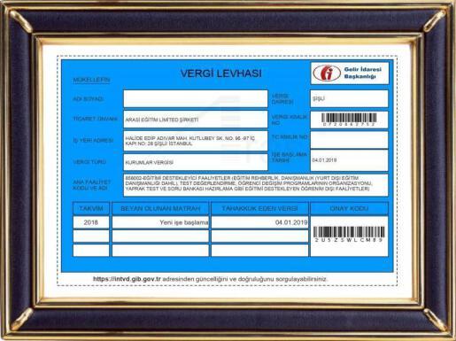 Arasi Eğitim Limited Şirketi 2019 (Turkey)