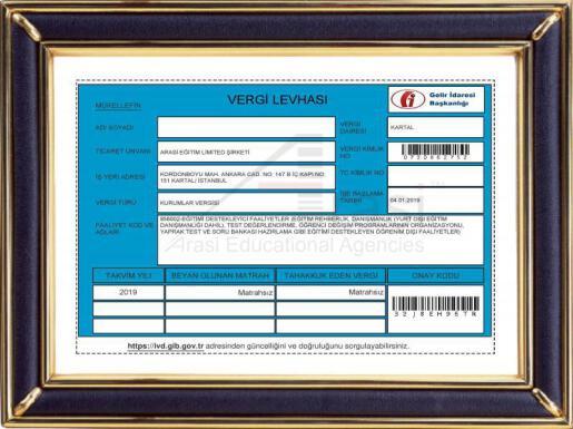 Arasi Eğitim Limited Şirketi 2020 (Turkey)