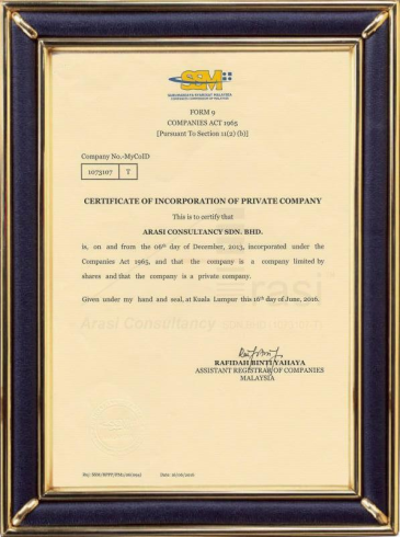 Arasi Consultancy SDN.BHD (Malaysia)