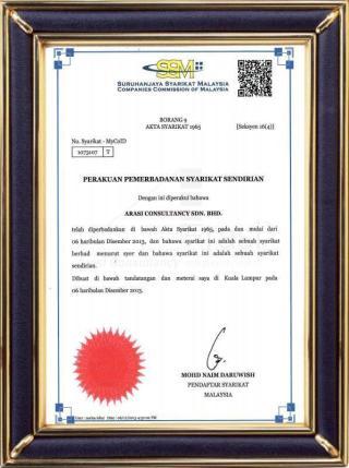 Arasi Consultancy SDN.BHD - SSM (Malaysia)